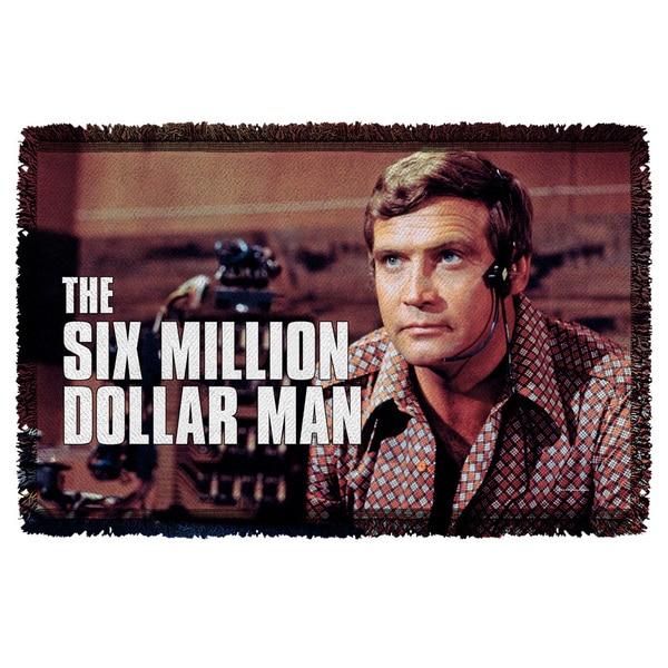 Six Million Dollar Man/Steve Austim Graphic Woven Throw