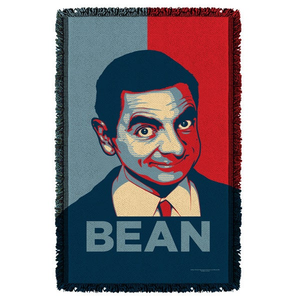 Mr Bean/Poster Graphic Woven Throw
