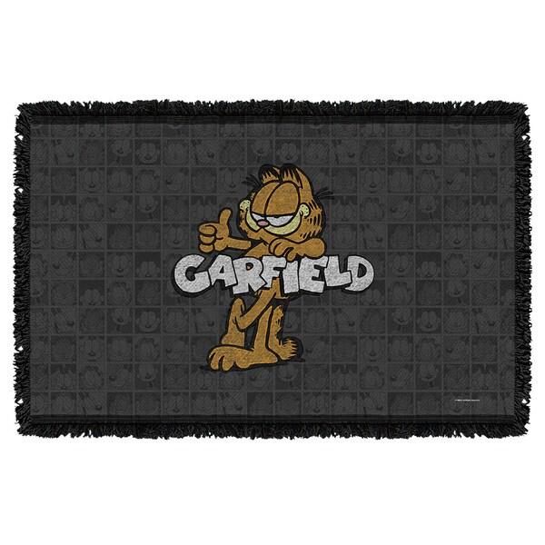 Garfield/Retro Graphic Woven Throw