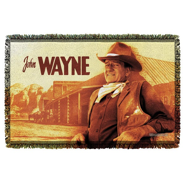 John Wayne/Old West Graphic Woven Throw