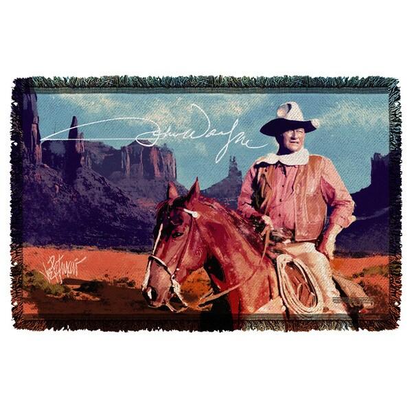 John Wayne/Monument Man Graphic Woven Throw