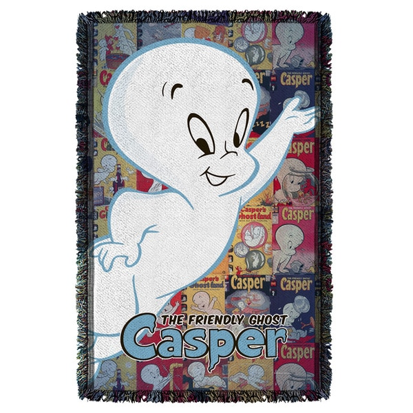 Casper The Friendly Ghost/Casper And Covers Graphic Woven Throw