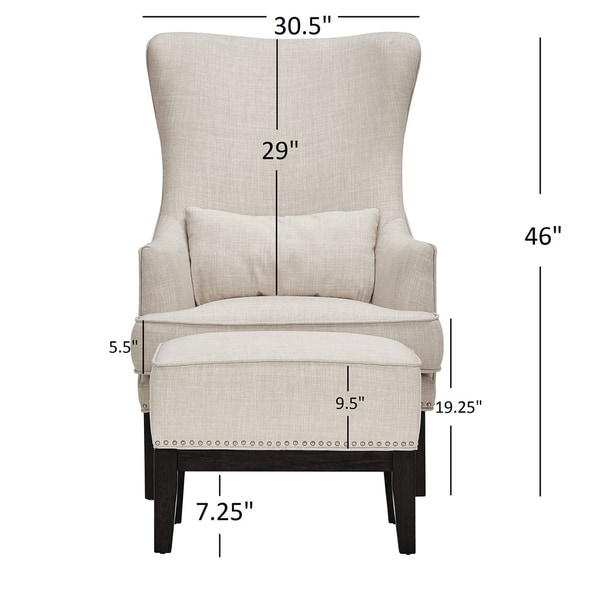 Capella Highback Wing Lounge Chair with Footstool by iNSPIRE Q Artisan -  Free Shipping Today - Overstock.com - 19087224