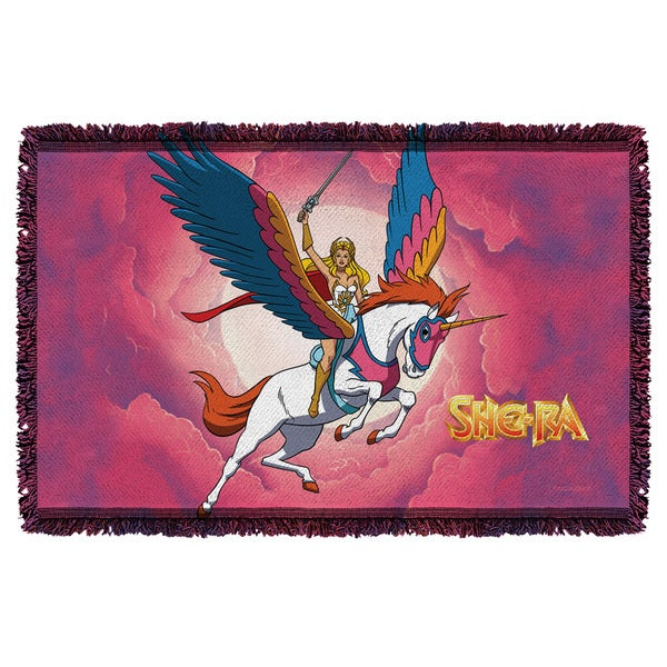 She Ra/Clouds Graphic Woven Throw
