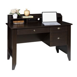 Charmant OneSpace 50 1617 Wood Grain Espresso Executive Desk With Hutch, USB, And  Charger