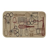 "Mohawk Home Kitchen Utensils Kitchen Mat - Multi - 1' 6"" x 2' 6"""