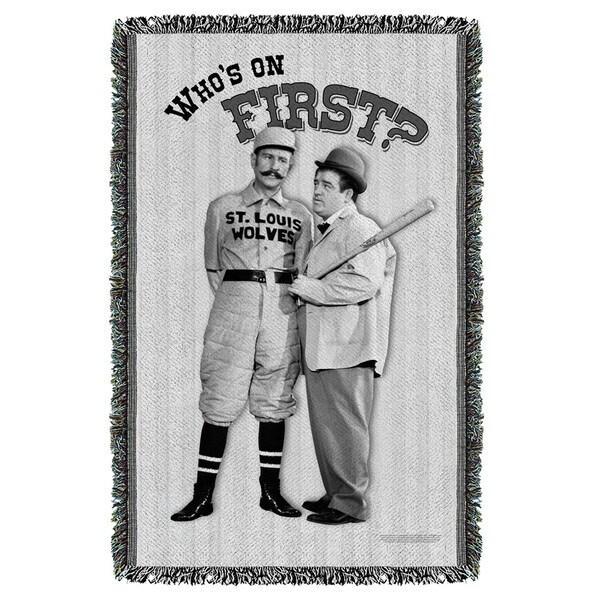 Abbott & Costello/First Graphic Woven Throw