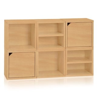 Denton Eco Friendly Stackable 6 Cube Storage System LIFETIME WARRANTY (made from sustainable non-toxic zBoard paperboard)