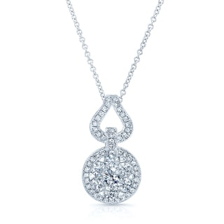 14k White Gold 1 3/4ct TDW Diamond Pendant (H-I, SI1-SI2)