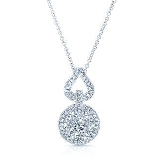 14k White Gold 1 3/4ct TDW Diamond Pendant
