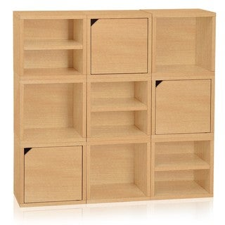 Argyle Eco Friendly Stackable 9 Cube Storage System LIFETIME WARRANTY (made from sustainable non-toxic zBoard paperboard)