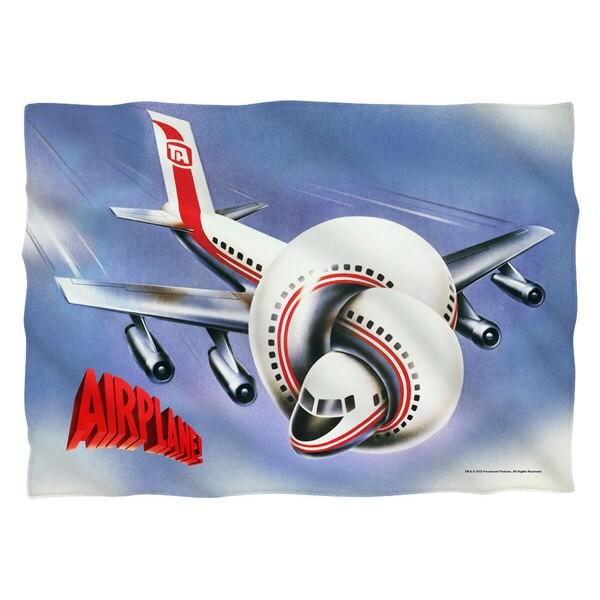 Airplane/Postet (Front/Back Print) Pillowcase Pillowcase