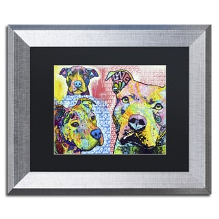 Dean Russo 'Thoughtful Pit Bull Part 3' Matted Framed Art