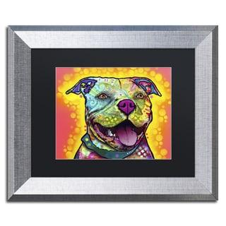 Dean Russo 'Dewey Pit Bull' Matted Framed Art