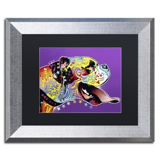 Dean Russo 'Happy Boxer' Matted Framed Art
