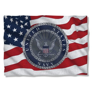 Navy/Flag Seal (Front/Back Print) Pillowcase