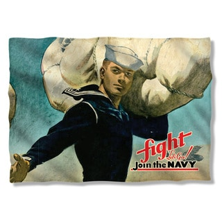Navy/Fight Lets Go (Front/Back Print) Pillowcase