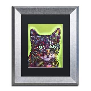 Dean Russo 'Watchful Cat' Matted Framed Art
