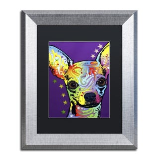 Dean Russo 'Chihuahua II' Matted Framed Art