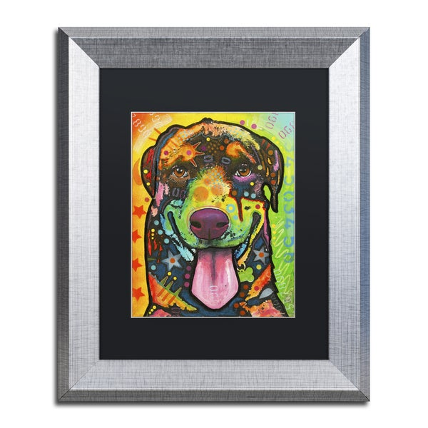 Dean Russo 'Rottie Pup' Matted Framed Art