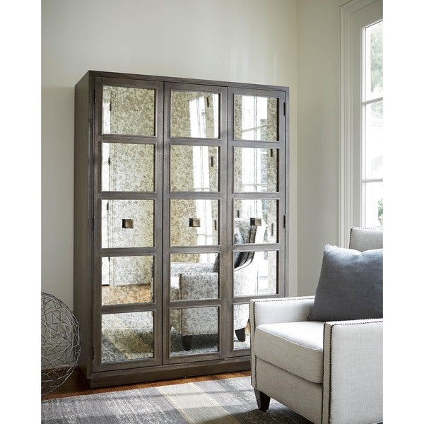 Mirror and Wood 3-Panel Ensemble Wardrobe - Free Shipping Today ...