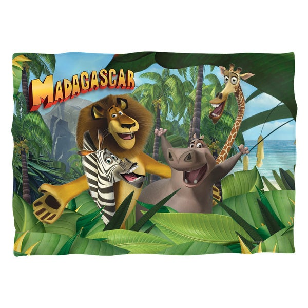 Madagascar/Jungle Time (Front/Back Print) Pillowcase Pillowcase
