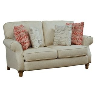 Broyhill Whitfield Cream Chenille Loveseat