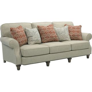 Broyhill Whitfield T-shaped Cream Chenille Sofa
