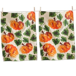 TAG Fall Pumpkin Dishtowel (Set of 2)