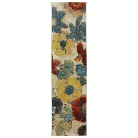 Mohawk Aurora Wildflower Light Multi Runner Rug (2' x 8') - 2' x 8'