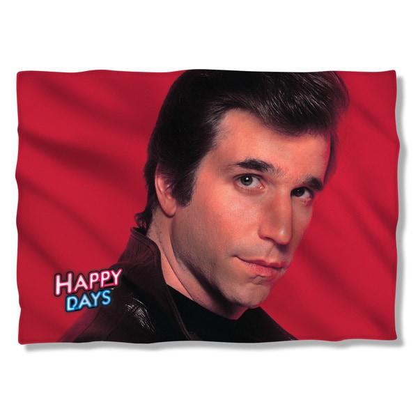 Happy Days/Red Fonz (Front/Back Print) Pillowcase Pillowcase