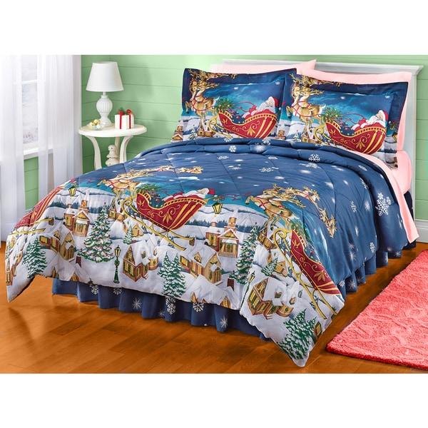 Santa's All Thru the Night 4-piece Comforter Set