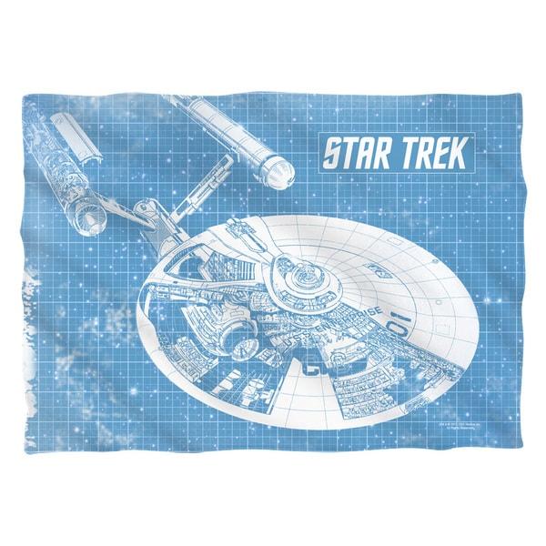 Star Trek/Enterprise Blueprint (Front/Back Print) Pillowcase Pillowcase
