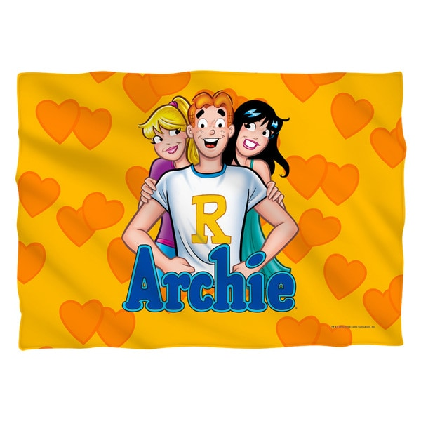Archie/Love Triangle (Front/Back Print) Pillowcase Pillowcase