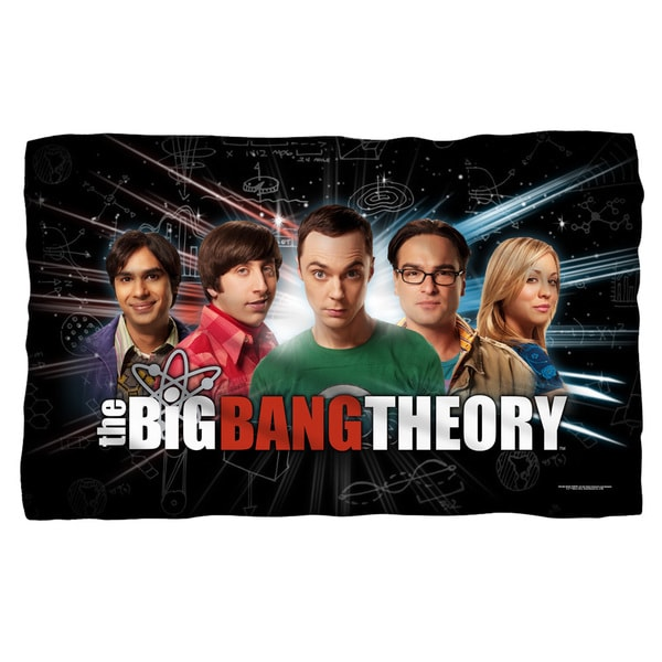 Big Bang Theory/Group Spark White Polyester Blanket