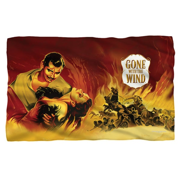 Gone With The Wind/Fire Poster White Polyester Blanket