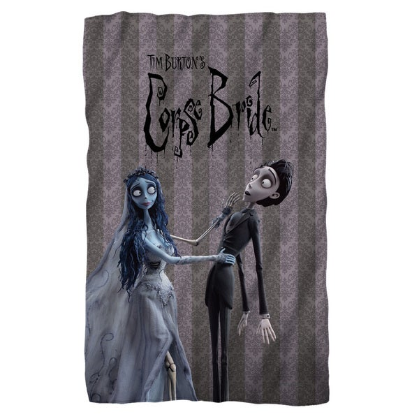 Corpse Bride/Bride And Groom White Polyester Blanket