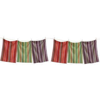 TAG Fall Artisan Stripe Dishtowel (Set of 6)
