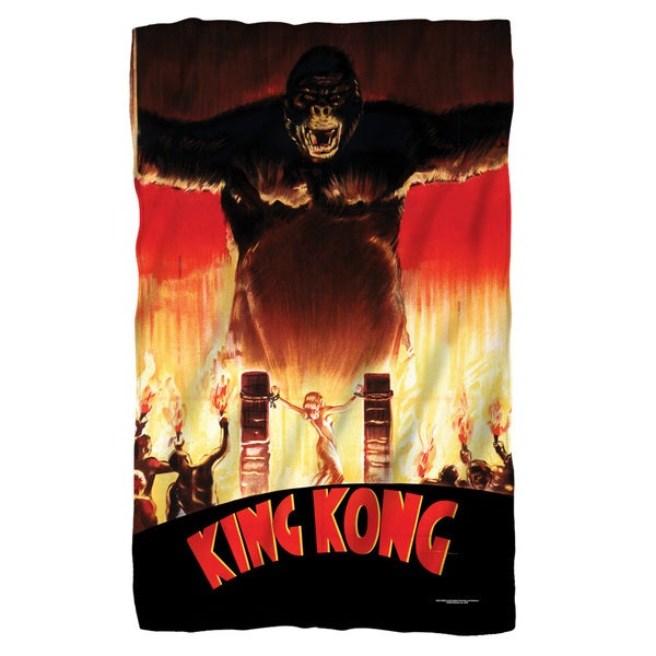 King Kong/At The Gates White Polyester Blanket