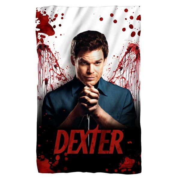 Dexter/Blood Never Lies White Polyester Blanket