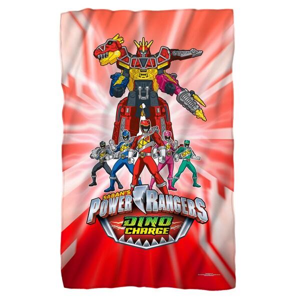 Power Rangers/Dino Ranger White Polyester Blanket