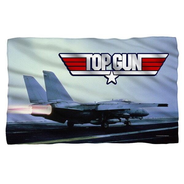 Top Gun/Take Off White Polyester Blanket