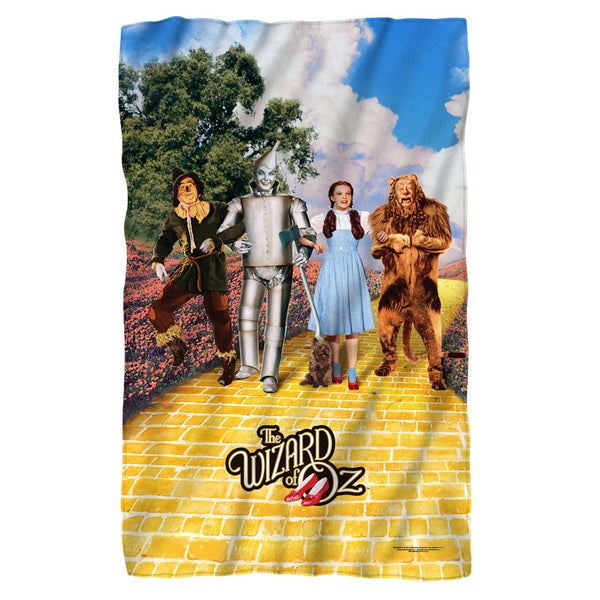 Wizard Of Oz/On The Road White Polyester Blanket