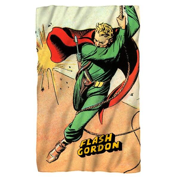 Flash Gordon/Space White Polyester Blanket