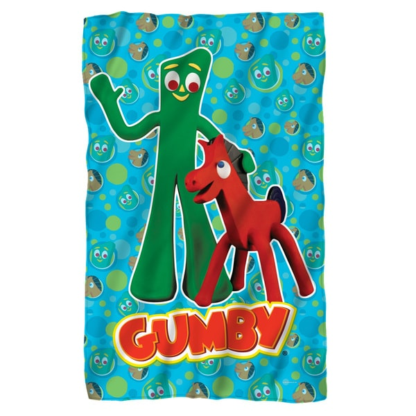 Gumby/Best Friends White Polyester Blanket