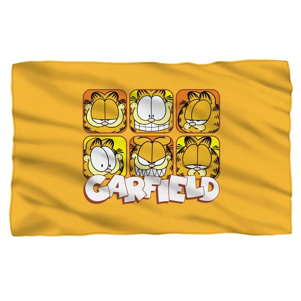 Garfield/Faces White Polyester Blanket