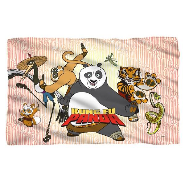 Kung Fu Panda/Kung Fu Group White Polyester Blanket