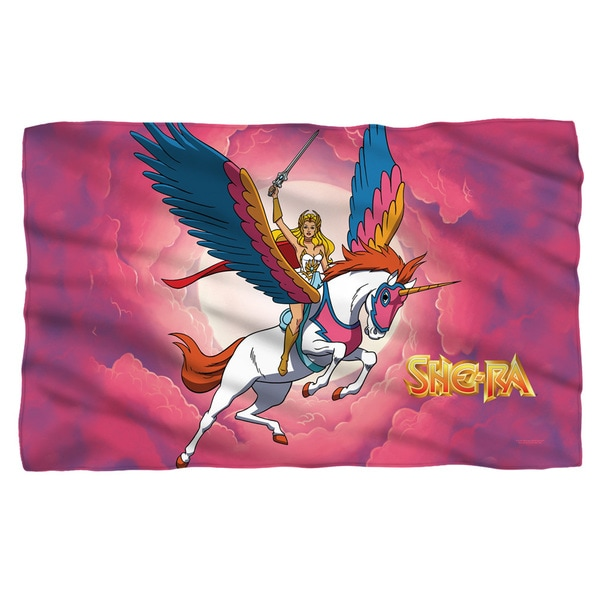 She Ra/Clouds White Polyester Blanket