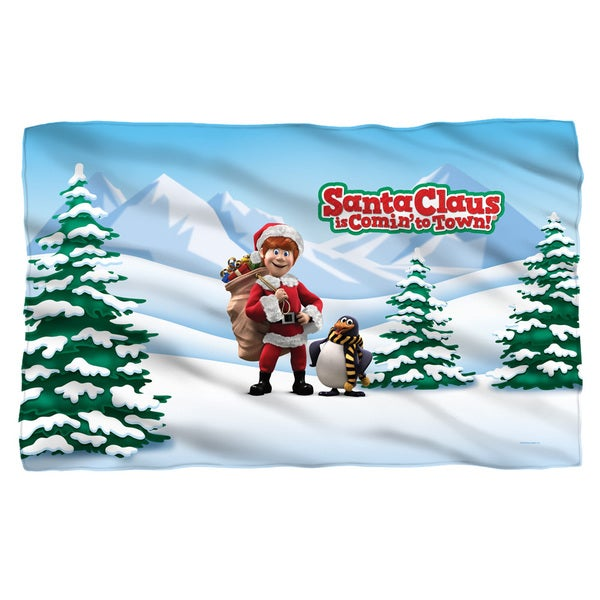Santa Claus Is Comin To Town/Kris And Topper White Polyester Blanket