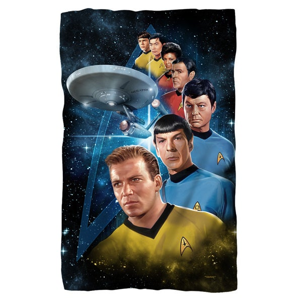 Star Trek/Among The Stars White Polyester Blanket